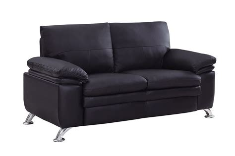 Bonded Leather Loveseat soft padded bonded leather contemporary loveseat prime classic design modern italian and luxury