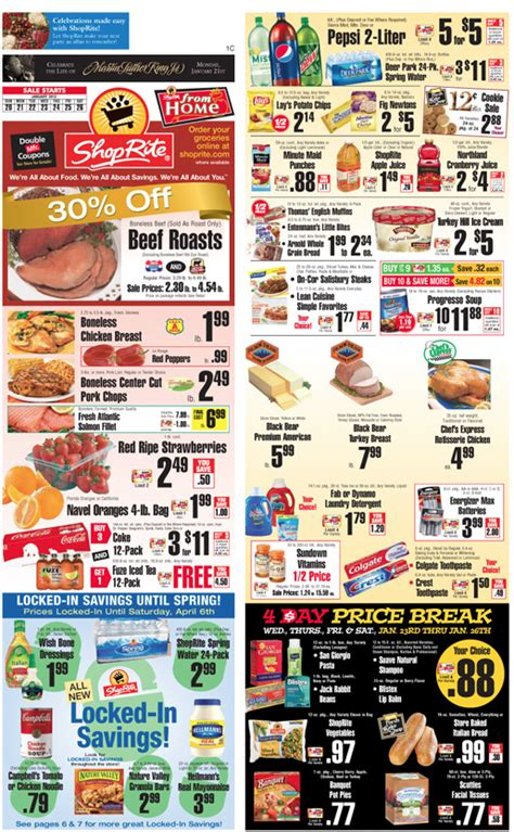 shoprite printable shopping list shoprite coupons and deals for the week of 1 20living rich