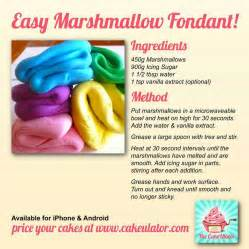 easy marshmallow fondant recipe cake decorating pinterest