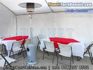 Patio Heaters Rental Patio Heater Rentals Includes Propane Tank Free Delivery With Rental Table Chairs Linens For