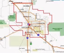 arizona city limits map marana arizona map