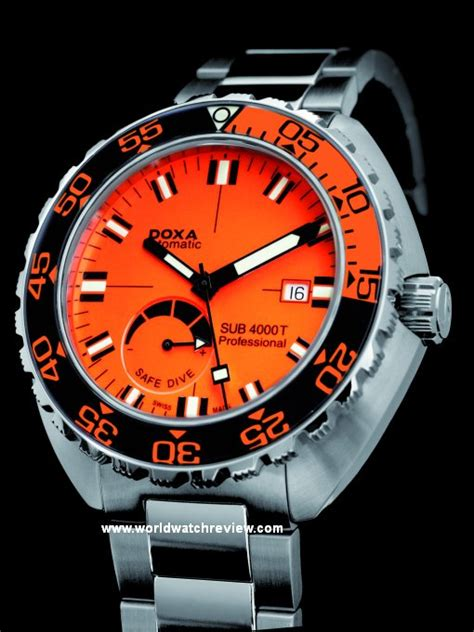 doxa dive doxa sub 4000t professional diver with sapphire bezel