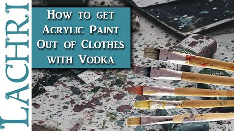 acrylic paint out of clothes how to get acrylic paint out of your clothes with