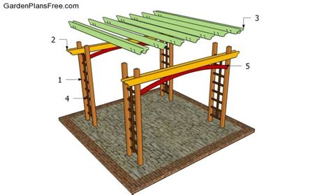 how to construct a pergola pdf diy build pergola construction build pergola