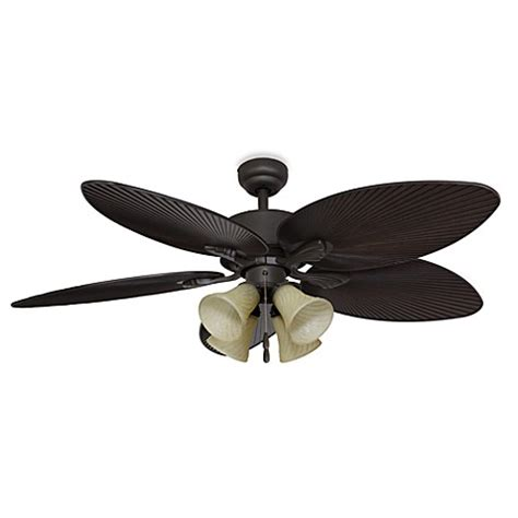 Palm Ceiling Fan With Light Palm Clay 52 Inch 4 Light Ceiling Fan Bed Bath Beyond