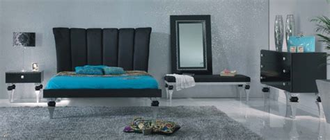black and silver bedroom set magnus black and silver leaf bedroom set collection