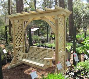 Pergola Wooden by Splendid White Stained Wooden Swing Pergola Design With