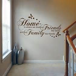 home is where we treat our friends wall decal quote