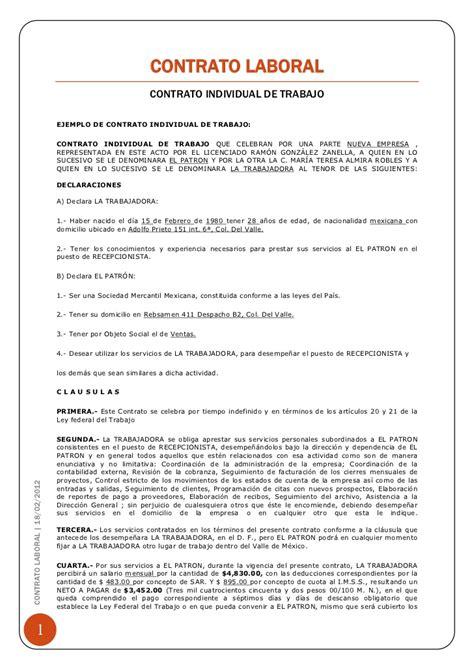 formato para liquidar contrato de trabajo a termino fijo formato contrato laboral ejemplo de contrato de trabajo