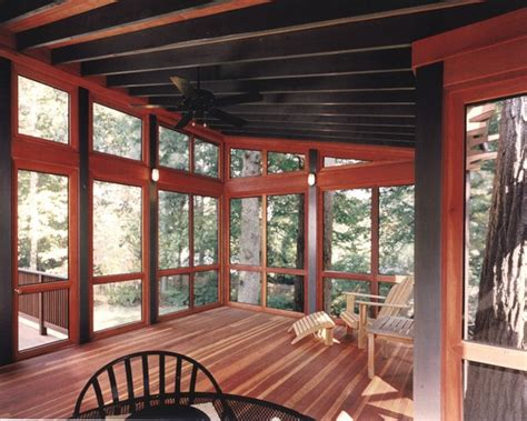 4 Season Porch Designs Sunroom Furniture Ideas Black Contemporary Leather