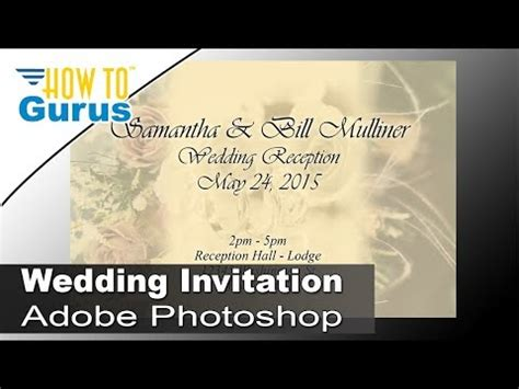invitation card design tutorial photoshop how to design wedding invitation cards in adobe photoshop