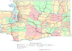 Map Of Washington State Cities And Towns by Washington Printable Map