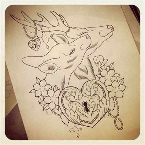 buck and doe tattoo designs 1000 ideas about deer on tattoos deer
