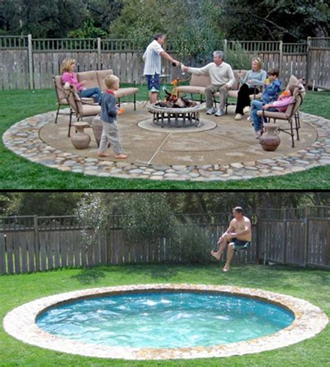 pool fire pit 28 mindbogglingly alluring small backyard designs