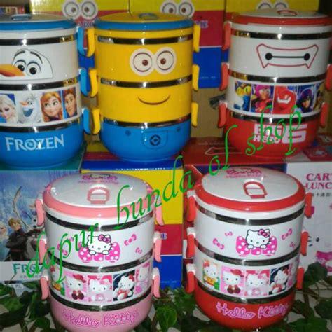 Promo Rantang Rainbow 3 Susun promo rantang susun 3 karakter shopee indonesia