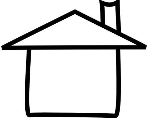 Outlines Of Houses Clipart by Clip House Outline Black And White Clipart Best