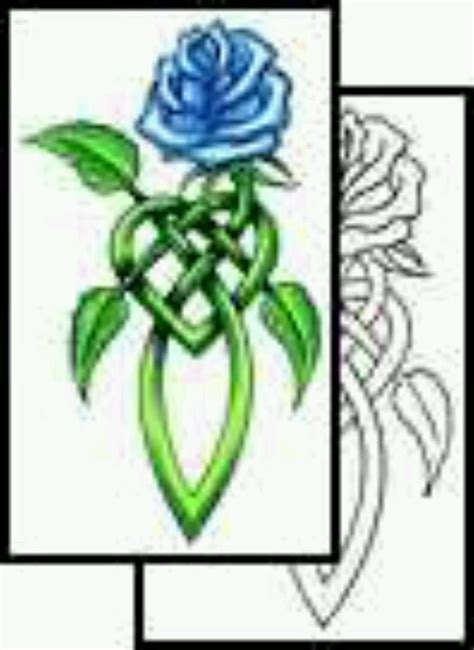 celtic rose tattoos celtic knot with the in the form of a