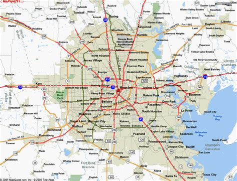 map of houston houston map
