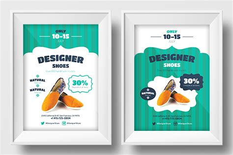 promotional flyer template new shoes promo template flyer templates on creative market