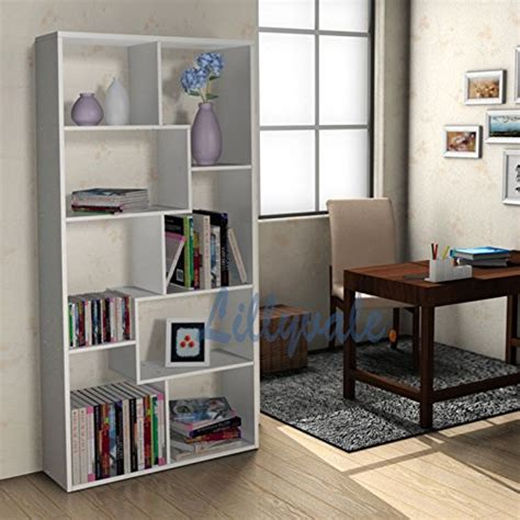 white black bookcase rack display unit storage office