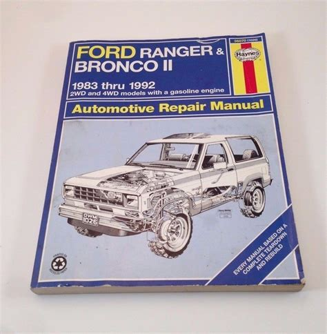 service manual car service manuals 1992 ford bronco ford pickup trucks bronco 2wd 4wd 1980