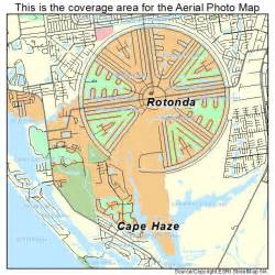 aerial photography map of rotonda fl florida