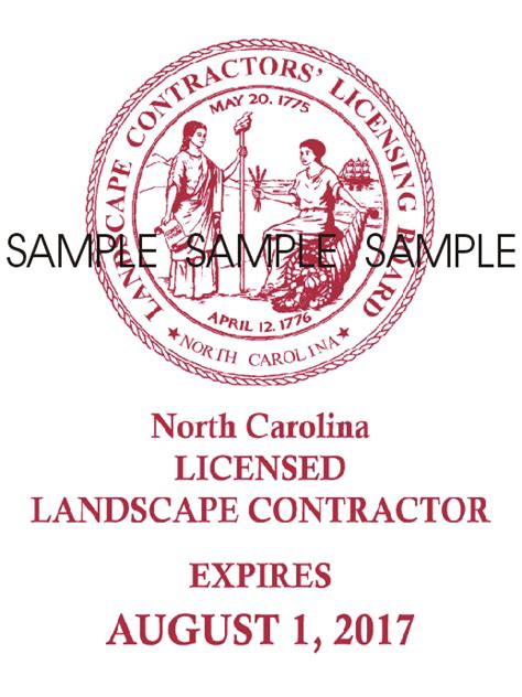 Use Of Official Decal And Seal Nc Landscape Contractors Nc Landscape Contractors