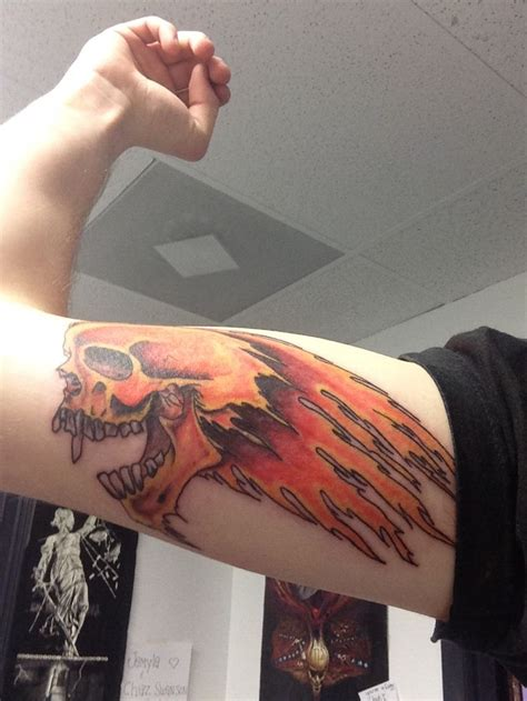 Metallica Flaming Skull Ee Tattoo Ee Cool Tattoos Pinterest