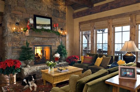 country homes and interiors christmas lodge christmas mantel decor interior design ideas