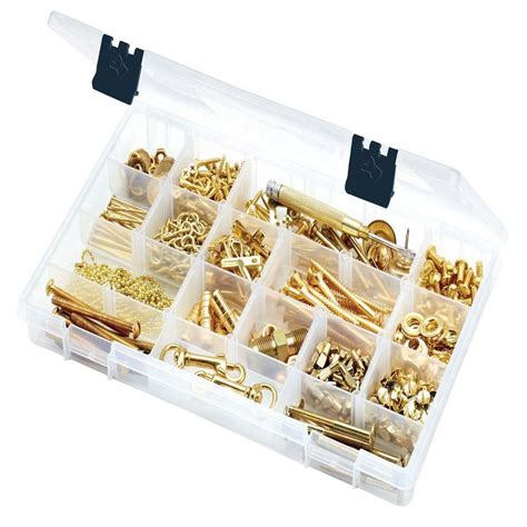 husky 14 in 15 compartment bin small parts organizer