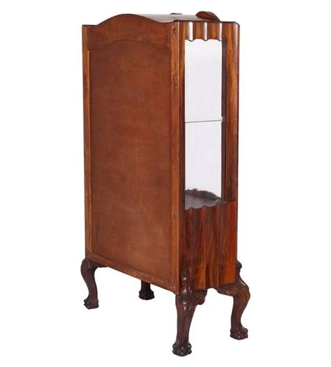 chippendale vitrine early 20th century chippendale walnut and burl walnut