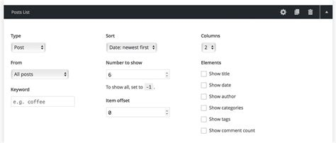 section list posts list section help make a free builder theme