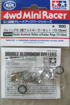 Tamiya 15398 Alumunium Rollers 13 12mm vellrip tamiya aluminum rollers with rubber rings 13 12mm 15418 when a mini 4wd car