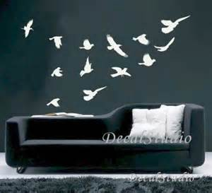 Black Bird Wall Stickers Flying Birds Home Decal Art Graphic Wall Sticker Room