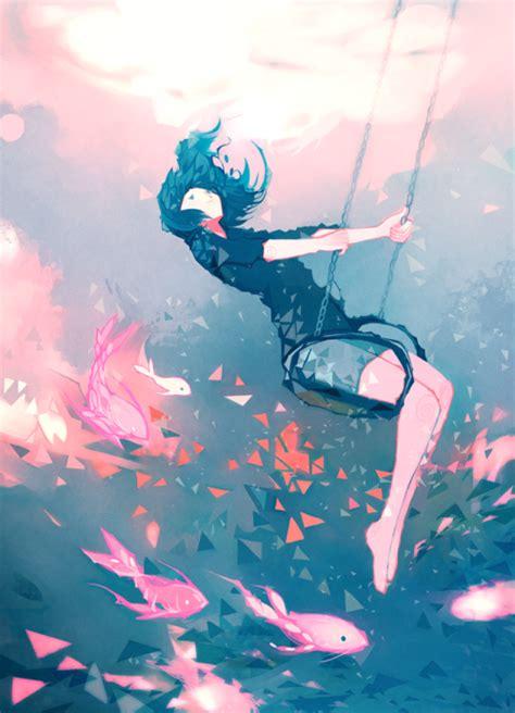 anime swing swinging anime girl tumblr