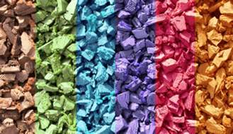 what colors does rubber mulch come in