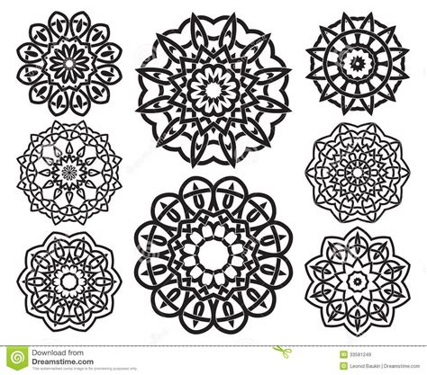 decorative geometric design set of knot design geometric elements royalty free stock