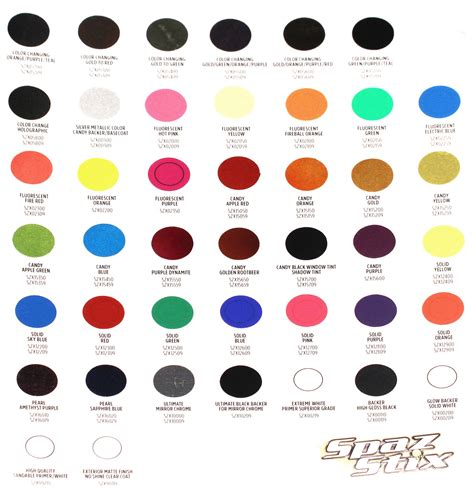 paint color identification card hobby recreation products