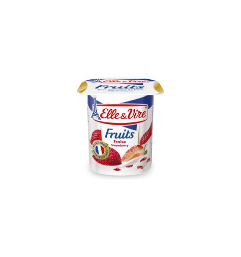Vire Fruits Yoghurt vire strawberry yoghurt with fruit pieces 125g from