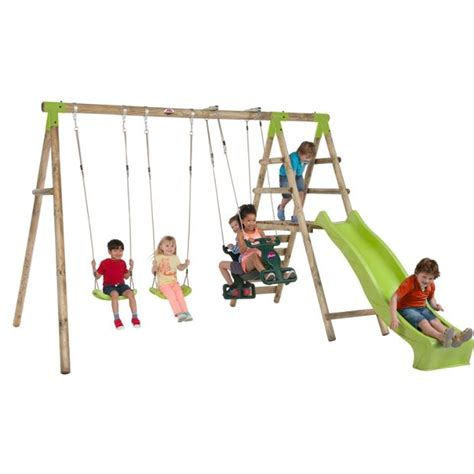 buy swings online buy plum silverback wooden garden swing set at argos co uk