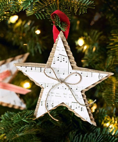 christmas decorations to make at home for free homemade christmas star ornament diy christmas ornaments