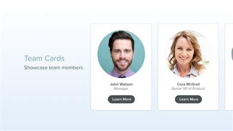 members page template team cards build beautiful team pages