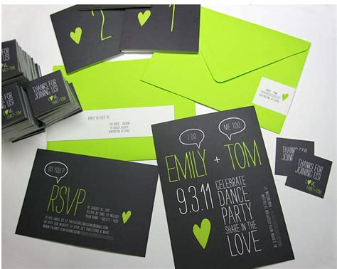 green and black wedding invitations green and black invitations modern wedding