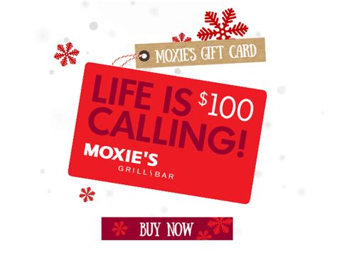 Moxies Gift Cards - chef inspired gifts for the foodies on your list moxie s bar grill