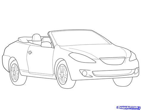 how to draw a convertible step by step cars draw cars how to draw a convertible step by step cars draw cars