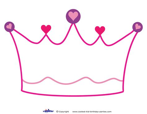 free printable princess crown template printable crown decoration coolest free printables