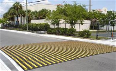 Speed Tables by Lake Worth Fl Uses Traffic Logix Speed Tables To Protect