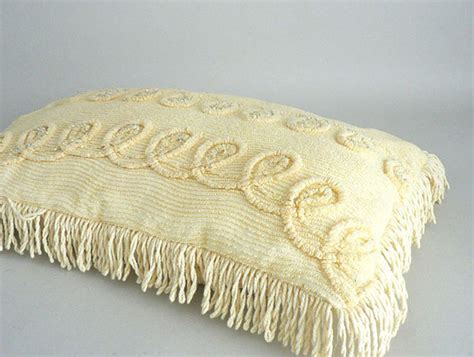 Pillows With Fringe by Yellow Chenille Decorative Throw Pillow With Fringe