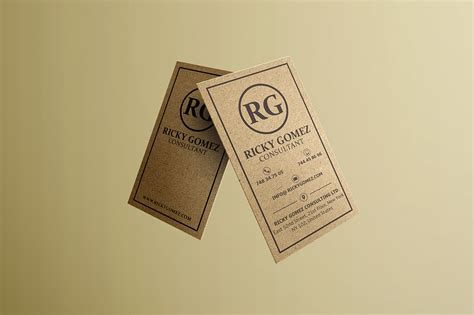 craft paper business cards kraft paper minimal business card business card