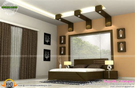 Home Interior Design by Interiors Of Bedrooms And Kitchen Kerala Home Design And